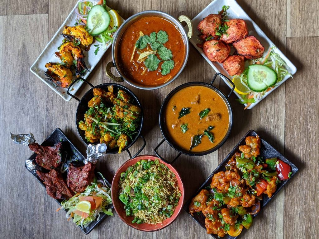 Indian curries and dry dishes